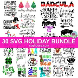 holiday svg bundle