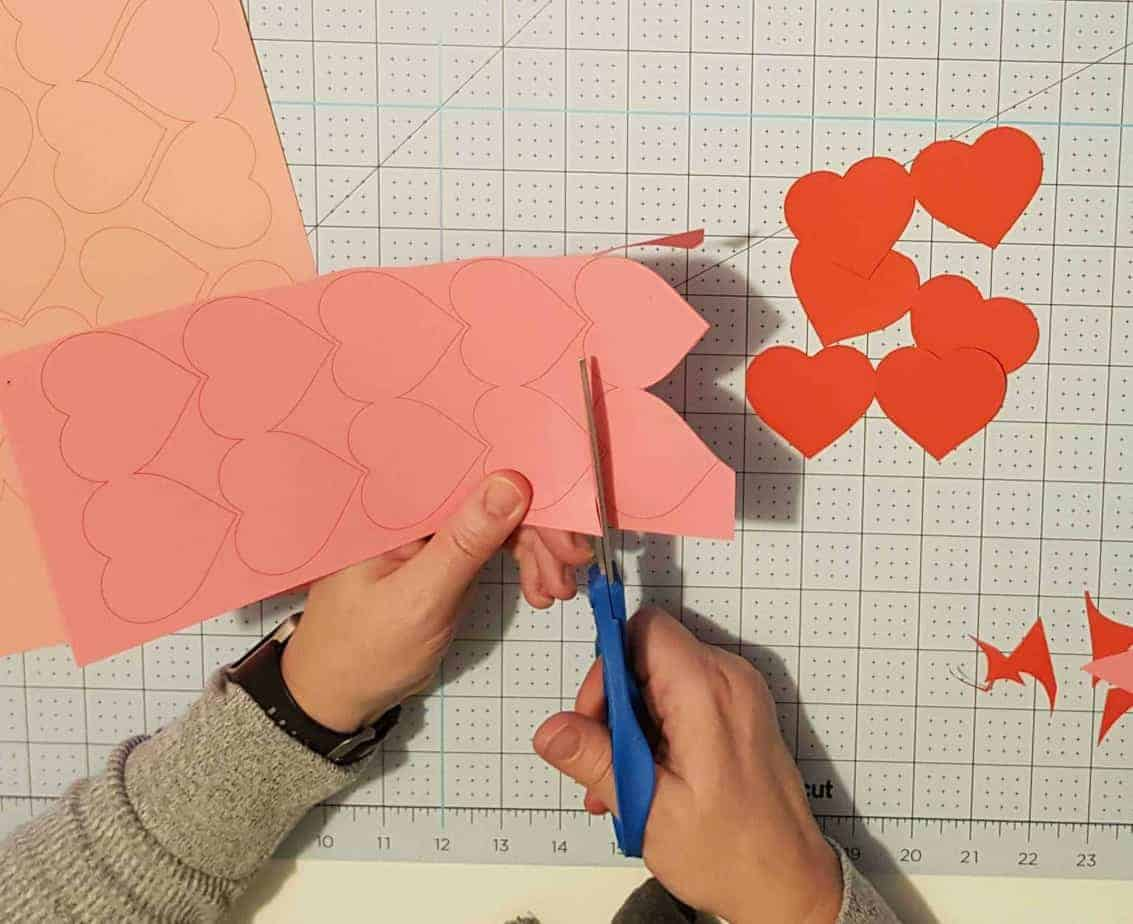 3d paper heart template free
