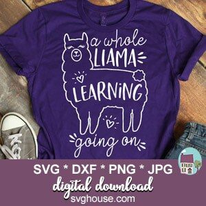 A Whole Llama Learning Going On SVG