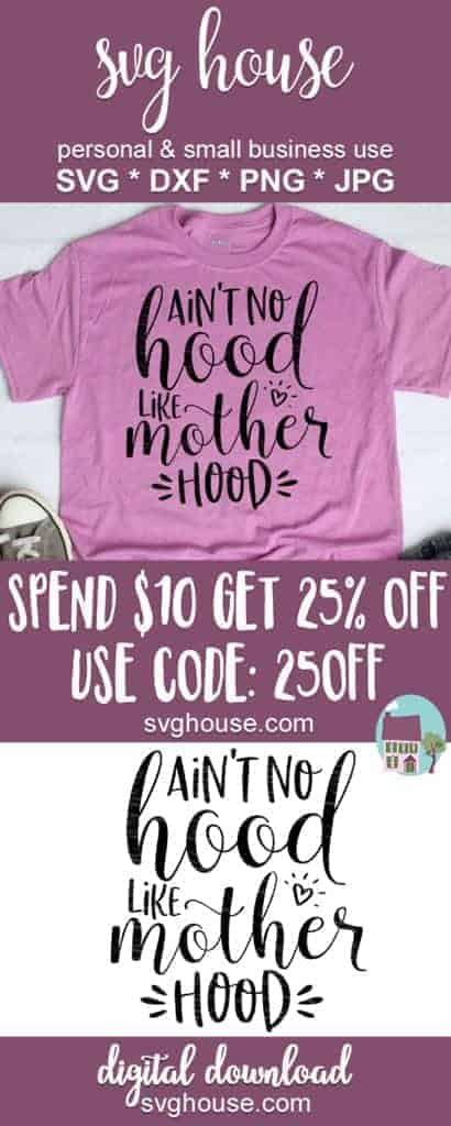 Aint No Hood Like Motherhood SVG