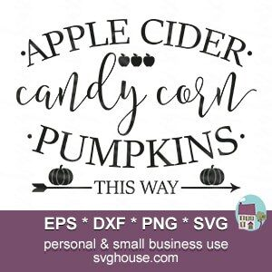 Apple Cider Svg Instant Download For Use With Silhouette And Cricut