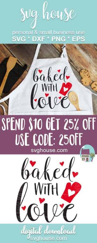 Baked With Love SVG