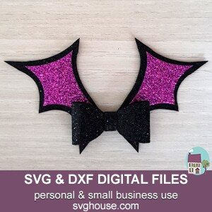 Bat Bow Template SVG