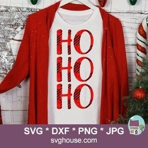 Buffalo Plaid Ho Ho Ho SVG
