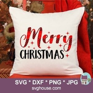 Buffalo Plaid Merry Christmas SVG