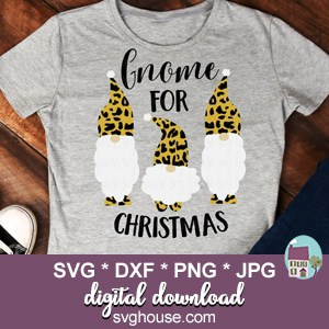 Download Christmas Gnomes SVG File Cheetah Print For Cricut And ...