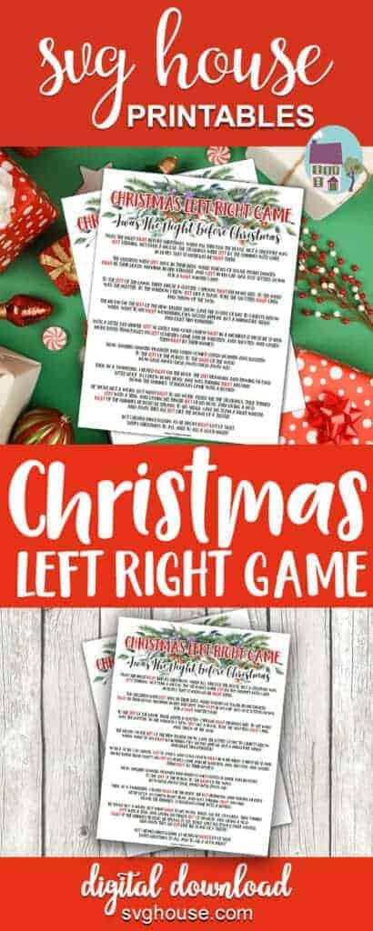 Christmas Left Right Family Game