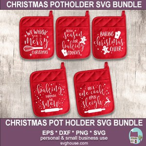 Christmas Pot Holder SVG Bundle
