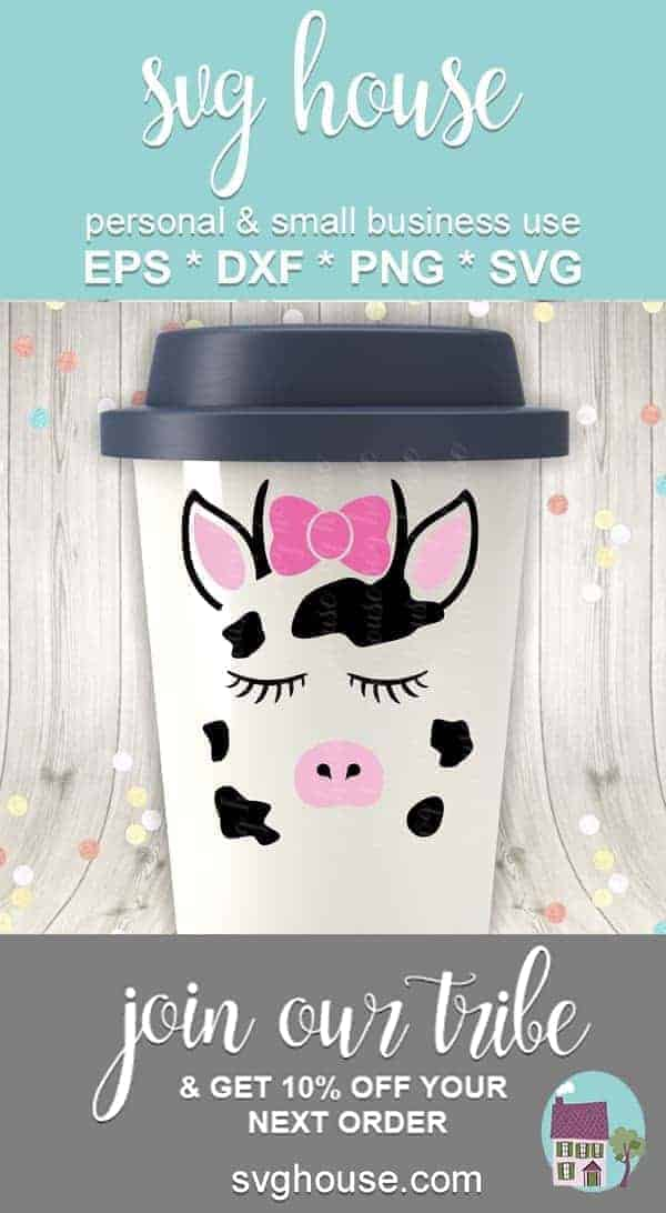 Cute Cow Face SVG