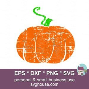 Distressed Pumpkin SVG file