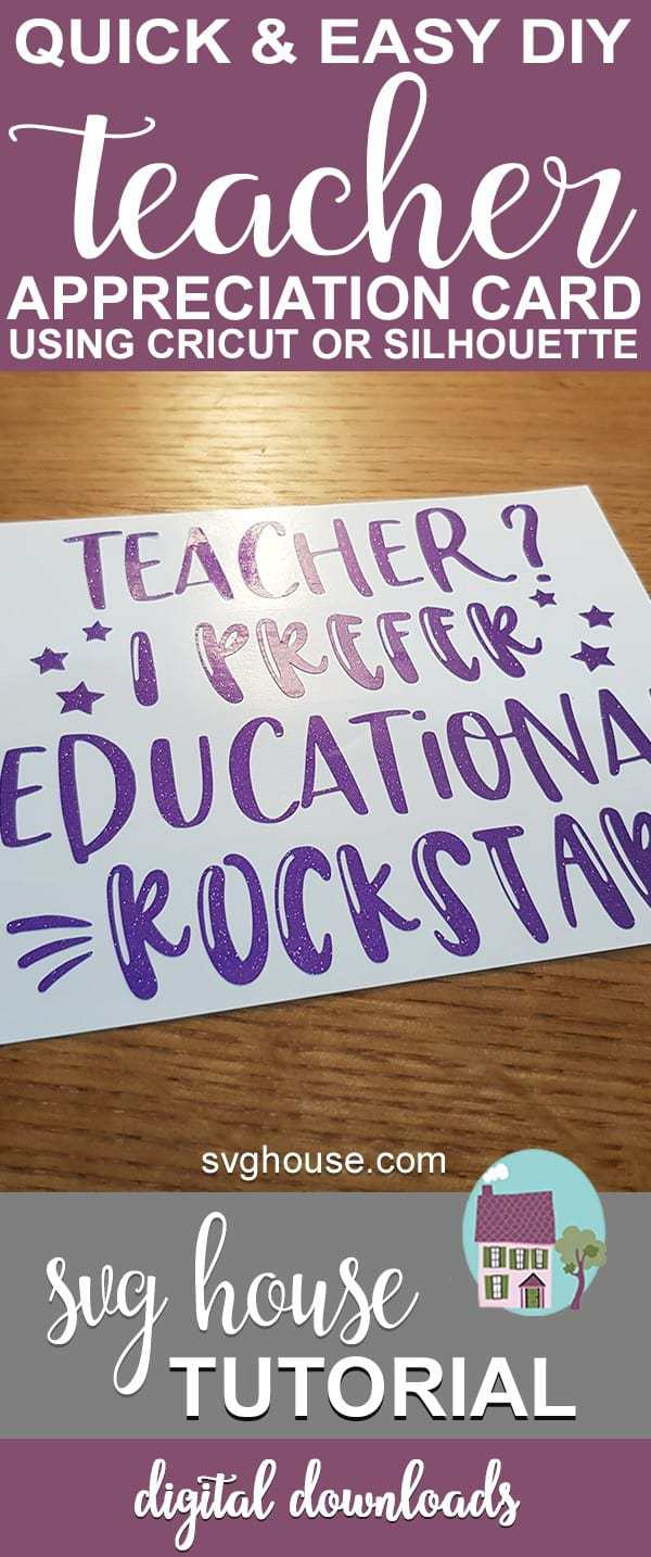 Easy DIY Teacher Appreciation Card
