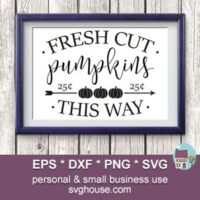 Fresh Cut Pumpkins SVG