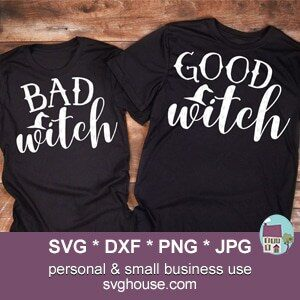Good Witch Bad Witch SVG