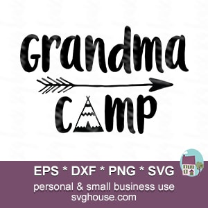 Grandma Camp Svg