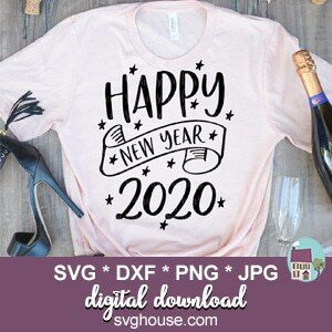 Happy New Year 2020 SVG
