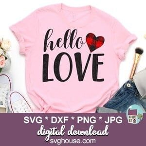 Hello Love SVG