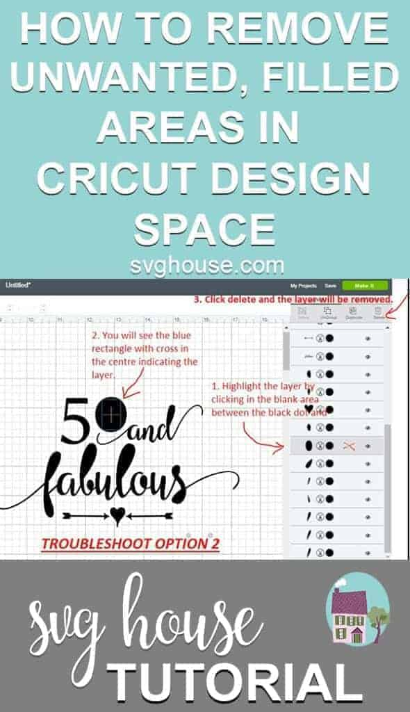 How To Remove Unwanted Filled Areas In Cricut Design Space
