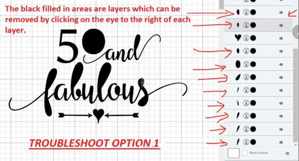 How To Fix Unwanted Filled Areas In An SVG In Cricut Design Space