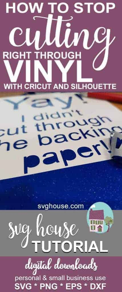 How To Stop Cutting Right Through Vinyl With Your Cutting Machine
