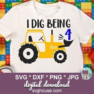 I Dig Being 4 SVG