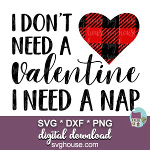 I Dont Need A Valentine svg