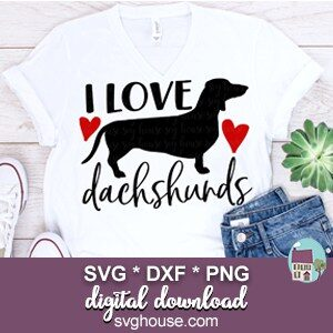 I Love Dachshunds SVG