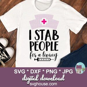 funny nurse svg