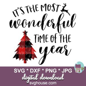 Its The Most Wonderful Time Of The Year Svg For Cricut And Silhouette
