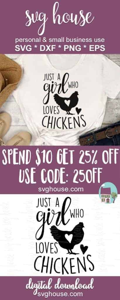 Just A Girl Who Loves Chickens SVG