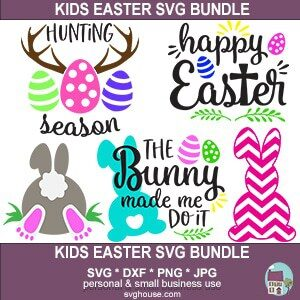 Kids Easter Svg Bundle Cut Files For Cricut And Silhouette
