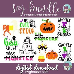 Kids Halloween SVG Bundle