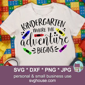 Kindergarten Where The Adventure Begins SVG