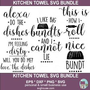 Kitchen Towel SVG Bundle