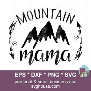 Mountain mama SVG File