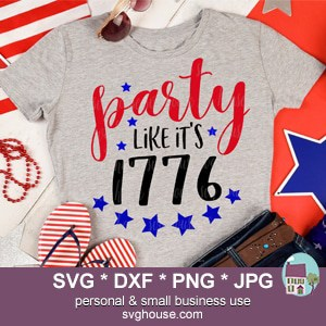 Party Like Its 1776 SVG