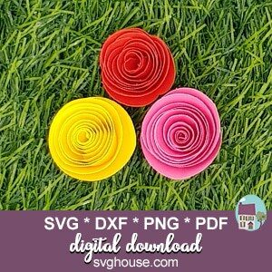 Rolled Rose SVG Template