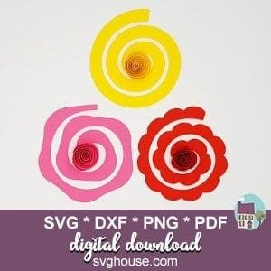 rolled rose svg