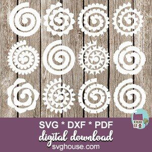 Rolled Paper Flowers SVG