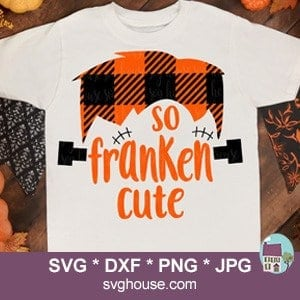 So Franken Cute Buffalo Plaid SVG