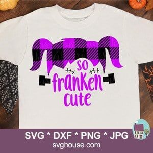 So Franken Cute Girls Buffalo Plaid SVG