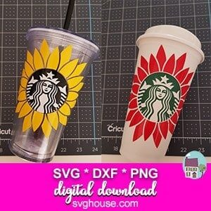 Starbucks Cup SVG Sunflower