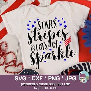 Stars Stripes And Lots Of Sparkle SVG