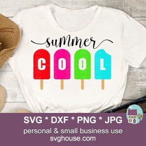 Summer Cool Popsicle SVG