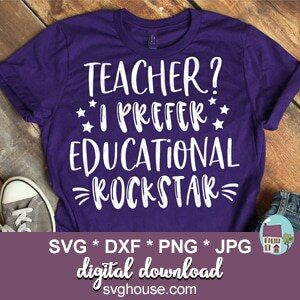 Teacher I Prefer Educational Rockstar SVG