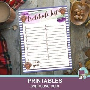 Printable Thanksgiving Gratitude List