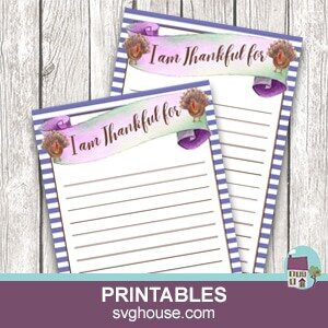 Printable Thanksgiving I'm Thankful For Game