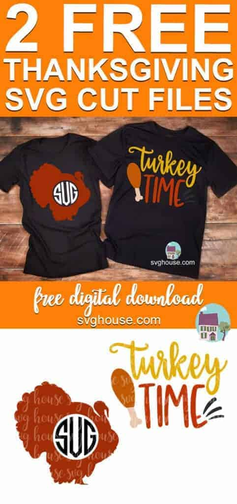 turkey monogram svg