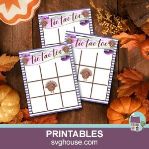 Printable Thanksgiving Tic Tac Toe