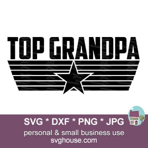 Top Grandpa SVG