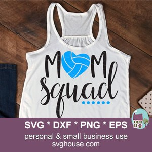 Volleyball Mom Squad SVG